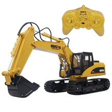 2.4G Full-functional 15-Channel Remote Control Constructing Truck Crawler Digger Alloy Bucket Realistic Electric RC Excavator(China)