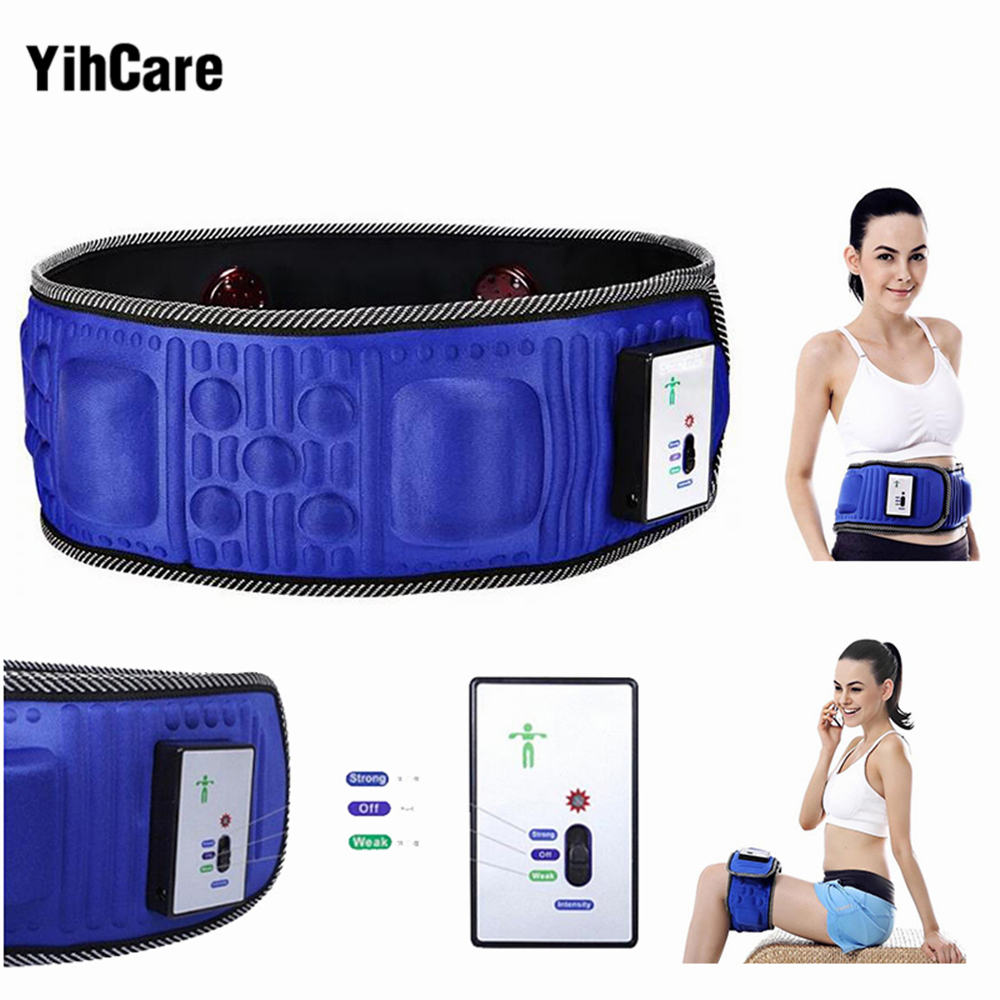 YihCare Electric Fitness Vibrating 5 Motors Massager Slimming Belt Sauna Vibration Massage Fat Burning Weight Losing Effective<br>