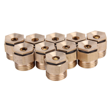 10Pcs Brass Garden Sprinkle Connector Thread Water Irrigation Spray Nozzle Garden Watering accessories(China)