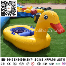 Inflatable kids hand paddle boat/yellow duck mini boat/paddle boat(China)