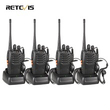 4pcs Walkie Talkie Retevis H777 UHF 400-470MHz Ham Radio Hf Transceiver Radio Communicator Walkie-talkie Handy Telsiz A9105A