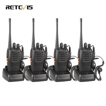 4pcs Walkie Talkie Retevis H777 UHF 400-470MHz Ham Radio Hf Transceiver Radio Communicator Walkie-talkie Handy Telsiz A9105A(China)