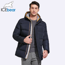 ICEbear 2017 Mens Winter Jackets And Coats Classic Short Thick Inner Pocket And Threaded Knitted Cuffs 17MD622(China)