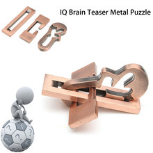 Vintage Metal Puzzle IQ Mind Brain Teaser Educational Toy Gift For Adults Children Kids Game Toys