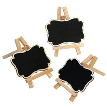 3pcs Framed Chalkboard Vintage Mini Wood Chalkboard Blackboard Wooden Place Card Holder Table Number For Wedding Party