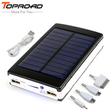Portable Solar Power Bank 12000MAH bateria externa portatil Dual USB LED External Mobile Phone Battery Charger Backup Powerbank