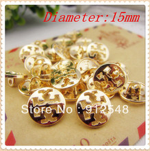 free shipping 50pcs,gold metal button in Gold color,World famous classic brand buttons, garment accessories DIY materials,JX1123(China)