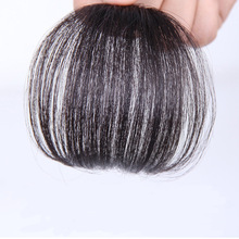 Soloowigs Natural Straight High Temperature Fiber Black/Light Brown/Dark Brown Women Clip-in Thin Bangs with Fringes