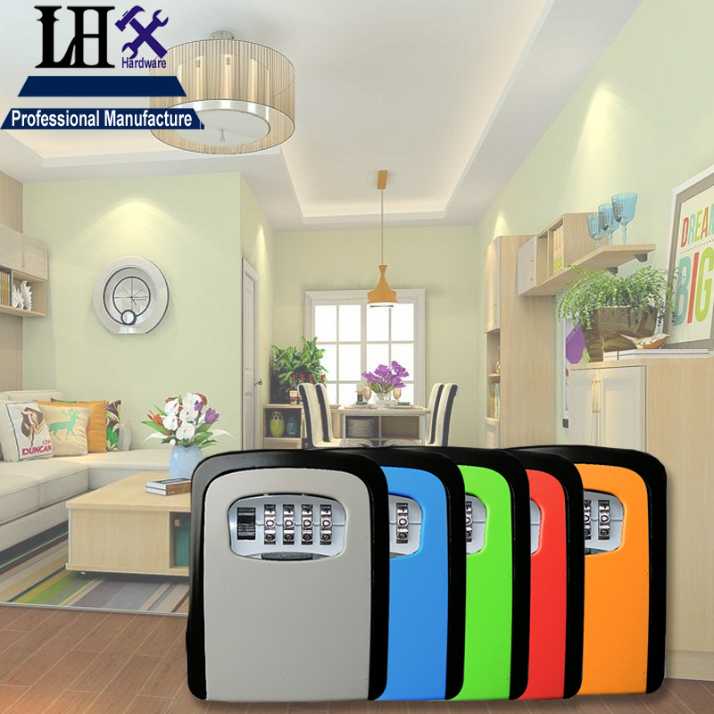 LHX MS515 Combination Key Box Lock Case 4 digit for Keyless Rental housing Jewelry Box Home Security Office Product i<br>
