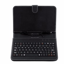 7 inch Universal Micro USB Keyboard For Tablet PC English Russian Spanish Arabic keyboard case can be choosed