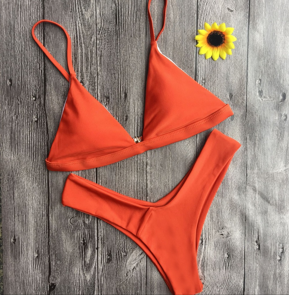 Hot Sexy Bikini 18 bandeau Swimsuit Thong Swimwear Women Bikinis Push Up Red Bikini Set brazilian Biquini Female Bathing Suit 25