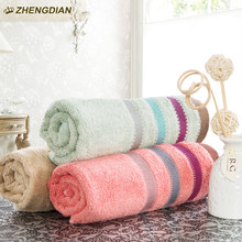 zhengdian Fast Drying super absorbent bathroom beach products Soft Absorbent air permeability plain satin face towels for adults
