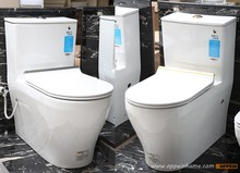 Sanitary Ware Bathroom One-piece White Ceramic Washdown Toilet in White  OP-W7065