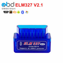 Super Mini ELM327 V2.1 Car Code Reader With Bluetooth OBD2 ELM 327 Auto Diagnostic Scanner Support Multi-language