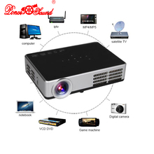Poner Saund mini HD 3D WiFi Android 4.4 DLP Projector 1080P Digital home theather tv Active Shutter proyector for PC laptop TV