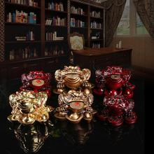 Miniature Golden Toad Resin Carved Wooden Toad  Fengshui Home Ornaments Frog Figurines Crafts Enfeites Para Casa Decoracao