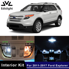 Edislight 13Pcs White Ice Blue Canbus LED Lamp Car Bulbs Interior Package Kit For 2011-2017 Ford Explorer Map Dome Door Light(China)