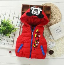 2017 Autumn Winter Fashion Children mouse Cartoon Vest Thick clothes Sports Leisure Jacket Boys/Girls Baby comfortable Coat