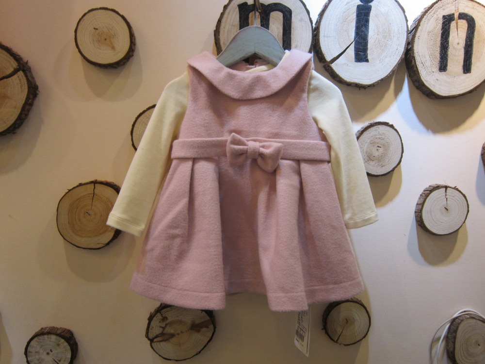 China brand baby girls vest dress Spring Fall wool sleeveless dress cute bow dress baby girls clothes 8M 12M 18M 24M 3T 70-105CM<br>