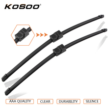 "KOSOO Auto Car Wiper Blade For Volkswagen Golf 4 (2002-2005),21""+19"" 2pcs Soft Rubber Windscreen Wipers Blades Car Accessories(China)"