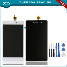 For Wiko Fever 4G/Fever LCD Display+Touch Screen 100% Original Screen Digitizer Assembly For Wiko Fever Cell Phone+Tools