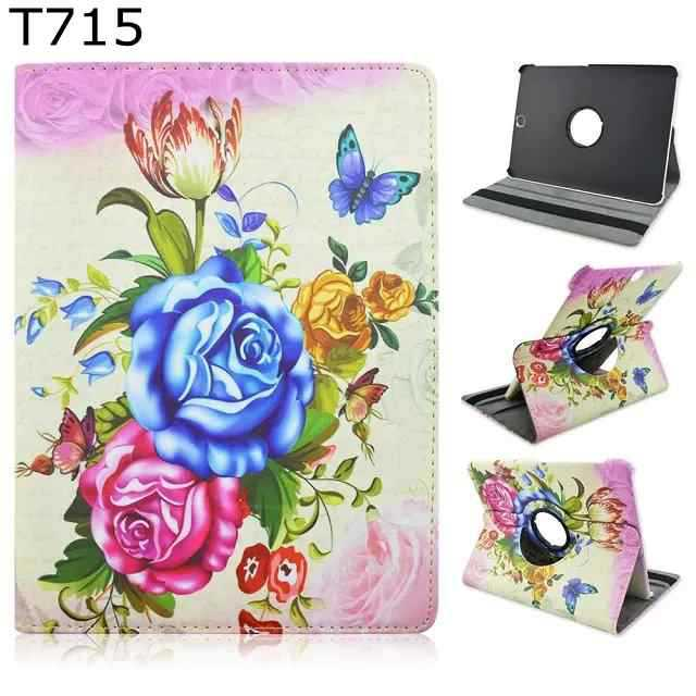 Fashion Chinese flower tree 360 Rotating PU Leather Stand Holder Case Cover for Samsung Galaxy Tab S2 8.0 SM-T710 T715 t710<br><br>Aliexpress