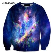 Galaxy Vogue Hoodies Men's Streetwear Harajuku Fitness Sweatshirt Weed Colorful 3d Hoodie Punk Rock 2017 Tops Men Hip Hop Tees