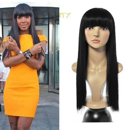 Rose Beauty HOT Promotion Women New Sexy Long Straight Full Hair Wigs Elegant Synthetic Wigs for African American Black Women<br><br>Aliexpress