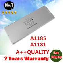 "wholesale New laptop battery for apple MacBook 13"" MA254 A1185 A1181 MA561 free shipping"