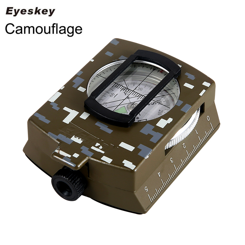 Eyeskey Waterproof Survival Military Compass Hiking Camping Army Pocket Military Lensatic Compass Handheld Military Equipment(China (Mainland))
