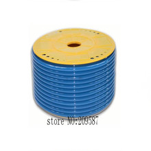 Tube PU Pneumatic Hose 4mm x 6mm for pneumatics 25meter Blue color(China)