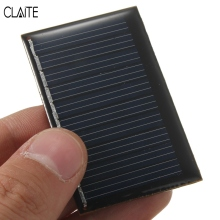 CLAITE Hot 5V 0.22W 45mA Polycrystalline Silicon Epoxy Mini Solar Power Panel DIY Module Mini Solar Cells Battery Phone charger