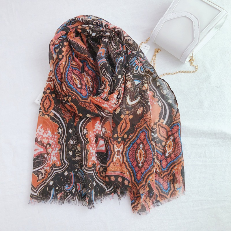 2019 Women Geoemtry Pattern Cotton Scarf 10pcs/lot