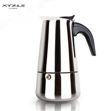 XYZLS 1pc Stainless Steel Moka Pot 4cups Espresso Maker/Percolator Coffee Pot for Stove Induction Cookern for Barista