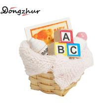 Dongzhur Doll House Miniature Accessories Bath Supplies Baskets Dollhouse Miniatures 1:12 Necessary Toiletries For Doll's Bath(China)