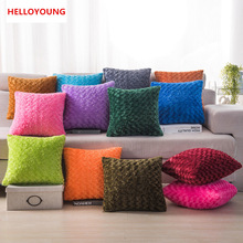 BZ111 Luxury Cushion Cover Pillow Case Home Textiles supplies Lumbar Pillow Plush multicolor decorative throw pillows chair seat(China)