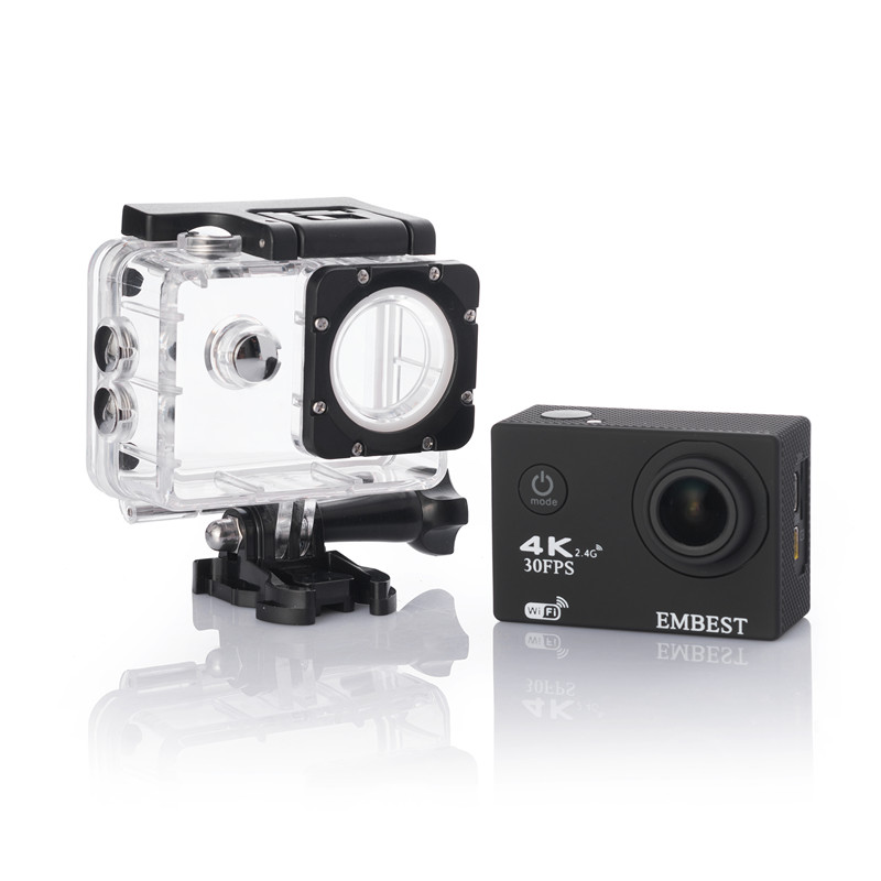 EMBEST 4K WIFI Sports Action Camera With Remote Control Ultra HD Waterproof Underwater 30M Camcorder 16MP 170 Degree Wide Angle 14