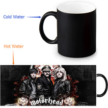 Motorhead mugs Heat Sensitive Color Changing magic mug heat changing color transforming cups tea coffee cups