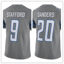 Men's 9 Matthew Stafford #20 Barry Sanders Jersey Embroidery Stitched 2017 Color Rush Limited Jersey