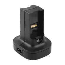 Gasky New Dual Battery Charger Dock Holder Station Fit for Microsoft for Xbox 360 Controller Black Video Games