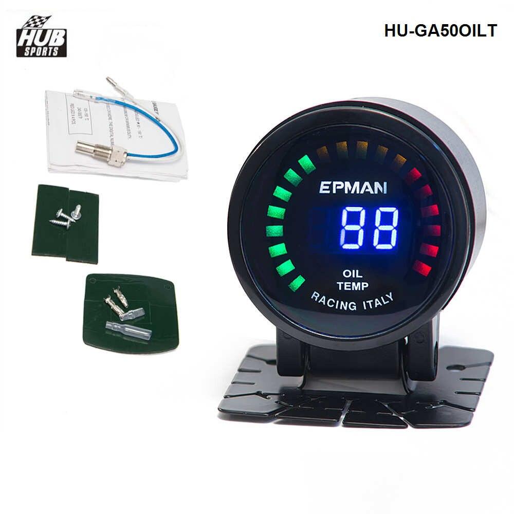 Hubsports - 2015 New EPman racing 52mm Smoked LED Digital Oil Temperature Temp Meter with Sensor bracket For Lexus HU-GA50OILT