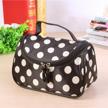 Fashion Zipper Dot Shell Bag Storage Bag Organizer Portable Toiletry Multifunction Cosmetic Bag Makeup Case Free shipping S386