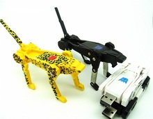 100% Real Full Capacity Genuine transformer robot machine dog 4GB 8GB 16GB 32GB USB flash drive pen drive tiger pendrive