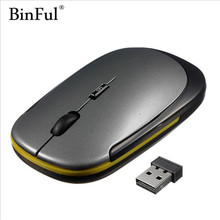 BinFul 2.4G wireless mouse USB Receiver ultra thin Slim Mini Wireless Optical Mouse Mice for Laptop PC Optical Gaming Mouse