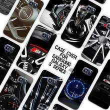 Hot Sale Audi RS4 RS6 RS7 RS8 Clear Case Cover Coque Shell for Samsung Galaxy S3 S4 S5 Mini S6 S7 Edge Plus