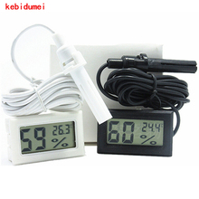 Professional Mini LCD Digital Thermometer Hygrometer Humidity Temperature Moisture Sensor Meter Temperature Gauge Indoor Probe(China)