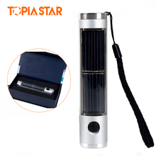 TOPIA STAR 5 Led Aluminium Rechargeable Mini Solar Flashlight