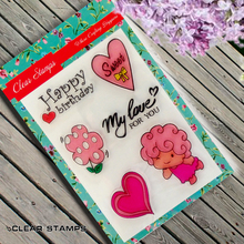 Sweet girl Scrapbook DIY photo album card hand account chapters rubber product transparent seal stamp
