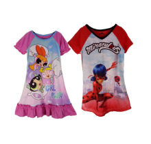 Anime Miraculous Tales of Ladybug Kids T-Shirt Powerpuff Girls Dress Miraculous Ladybug Costume Cat Adrien Cosplay Shirt(China)
