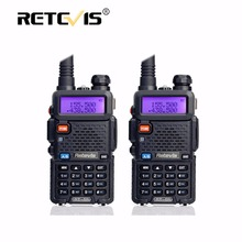2pcs Retevis RT5R Portable Walkie Talkie 5W 128CH VHF UHF Dual Band Handy Ham Radio Hf Transceiver Two Way cb Radio Communicator